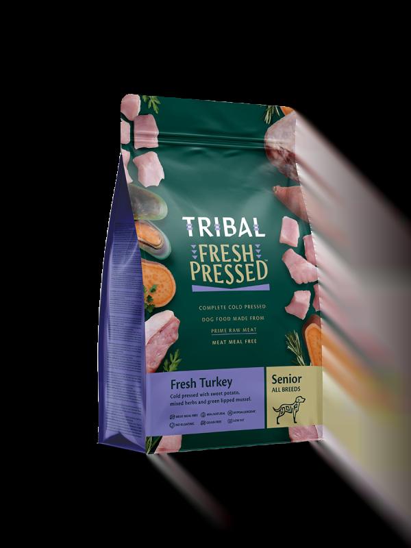 Tribal geperste voeding kalkoen senior